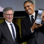 President Obama and Steven Spielberg