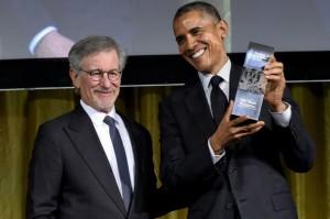 President Obama and Steven Spielberg